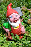 Garden gnome in a garden of a house at Engelberg Royalty Free Stock Images