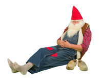 Garden gnome with hole in his socks Stock Photography