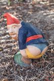 Garden Gnome, Lawn Ornament, Grass, Soil Royalty Free Stock Photography