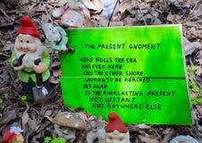 Garden Gnome with Limerick: Gnomesville, Western Australia Stock Images