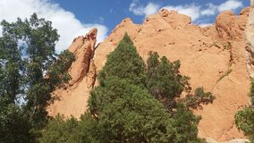 Garden of the Gods. A beautiful summer day outside Colorado Springs, CO at Garden of the Gods.  Towering sandstone natural formations make this a breathtaking Royalty Free Stock Photography