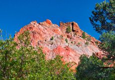 Garden of the Gods in Colorado As the Fall Leaves are Ab out to Change stock photography