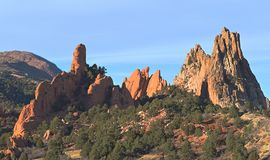 Garden of the Gods in Colorado royalty free stock photography