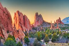 Garden of the Gods, Colorado Springs, Colorado. USA royalty free stock images