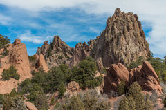 Garden of the gods colorado springs royalty free stock image