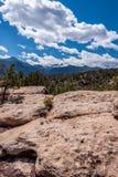 Garden of the gods colorado springs rocky mountains. Garden of the gods in colorado springs - travel vacation in the rocky mountains stock photos