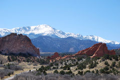 Garden of the Gods Entrance Royalty Free Stock Photos