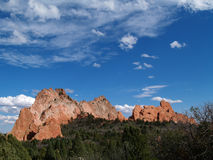 Garden of The Gods--Full stock images