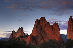 Garden of the Gods HDR Royalty Free Stock Photography