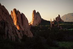 Garden of the Gods. This image was taken in Colorado Springs, CO Stock Images