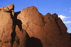 Garden of the Gods-Kissing Camels royalty free stock photography