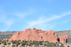 Garden Of The Gods Kissing Camels Stock Photos