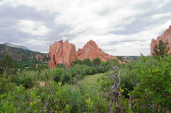 Garden of the Gods Monolith and Plains Royalty Free Stock Image