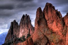 Garden Of The Gods Mountains in HDR stock photos