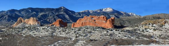 Garden of the Gods Panoramic stock photo