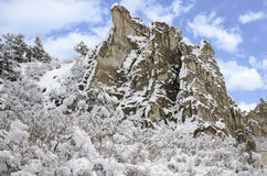 Garden of the Gods Park in Winter Royalty Free Stock Photos