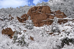 Garden of the Gods Park in Winter Stock Photography