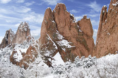 Garden of the Gods Park in Winter Stock Images