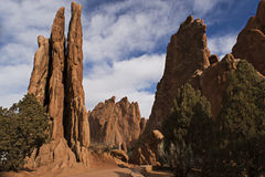 Garden of the Gods Peaks2. Red rocks in Garden of the Gods State Park in Colorado Springs Stock Photo