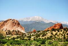 Garden of Gods Pikes royalty free stock image