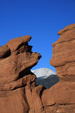 Garden of the Gods with Pikes Peak Royalty Free Stock Photography