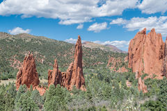 Garden of the Gods. Red rock formations at the Garden of the Gods Royalty Free Stock Images