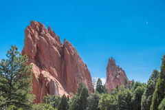 Garden of the Gods. Red rock formations at the Garden of the Gods Royalty Free Stock Image