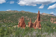 Garden of the Gods. Red rock formations at the Garden of the Gods Stock Photos