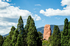 Garden of the Gods Rock Formation - Colorado Royalty Free Stock Images