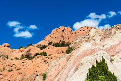 Garden of the Gods Rock Formation - Colorado Stock Photo