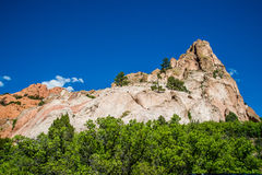 Garden of the Gods Rock Formation - Colorado Stock Photography