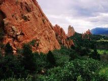 Garden of the Gods. A rock formation in the Garden of the Gods park in Colorado stock photos