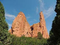Garden of the Gods rock formation royalty free stock photos