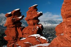 Garden of the gods (Siamese Twins). The siamese twins formation in the garden of the gods Royalty Free Stock Images