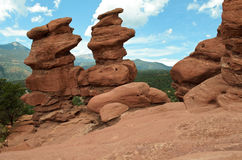 Garden of the Gods: Siamese Twins Formation Royalty Free Stock Image