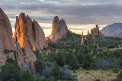 Garden of the Gods Sunrise Royalty Free Stock Images