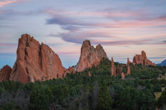 Garden Of The Gods at Sunset Royalty Free Stock Image