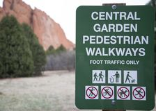 Garden of the gods sign royalty free stock image