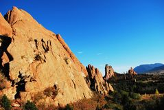 Garden of the Gods view. Garden of the Gods top view Royalty Free Stock Photography