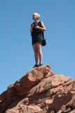 Garden of the Gods Visitor Stock Photo