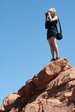 Garden of the Gods Visitor Royalty Free Stock Photo