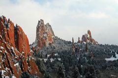 Garden of the Gods Winter Stock Image
