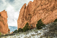 Garden of the Gods Winter Snow Stock Image