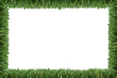 Garden grass frame. With white copy space stock photo