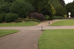 Garden gravel path Royalty Free Stock Photo
