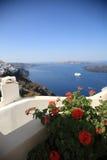 Garden of a Greece house. Royalty Free Stock Photo