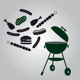 Garden grill eps10 Stock Photo