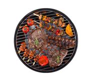 Garden grill isolated on white background Royalty Free Stock Photos