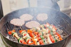 Garden grilling Stock Photo