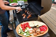 Garden grilling Royalty Free Stock Image